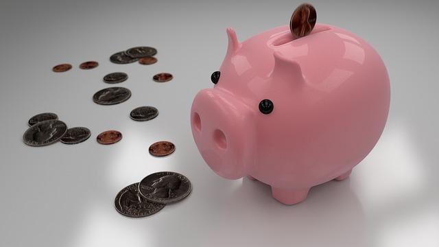 Spargris med småpengar