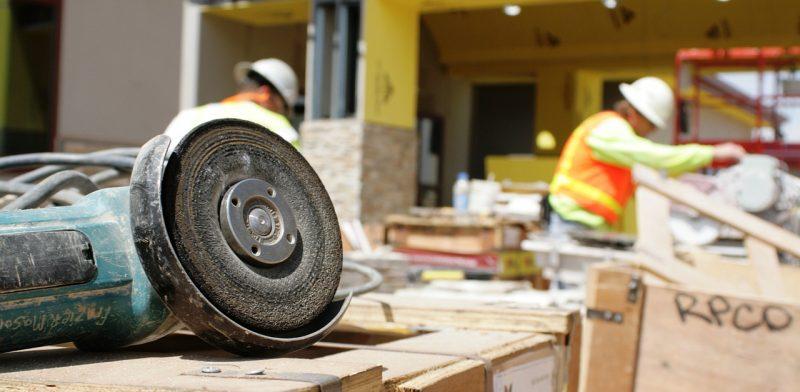 Verktyg på byggarbetsplats
